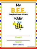 My B.E.E. Folder (For First Grade)