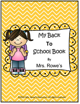 My Back To School Book