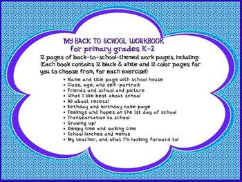 Back to School Workbook K-1