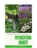 My Backyard Habitat Unit Study