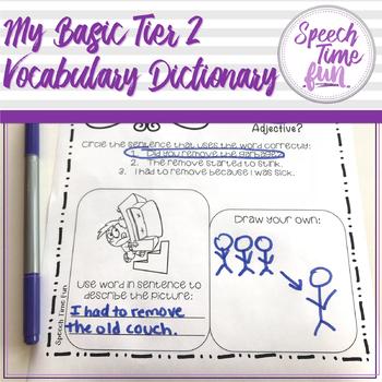 My Basic Tier 2 Vocabulary Dictionary