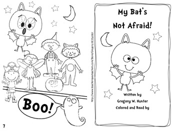 My Bat's Not Afraid! ~ An Emergent Reader for Centers, Workshops, or Whole Class
