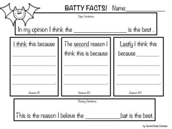 """My """"Batty"""" Opinion Writing Unit"""