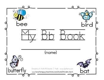 My Bb Book {letter study & sight word can}