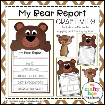 My Bear Animal Report Craft