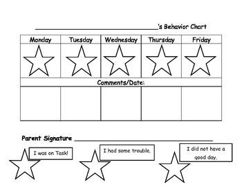 My Behavior Chart