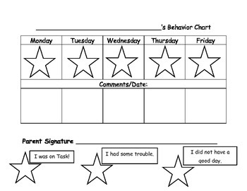 My Behavior Chart