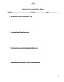 Behavior Plan Template (Basic)