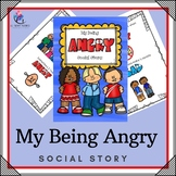 My Being Angry Social Story - Hitting, Kicking,Throwing -