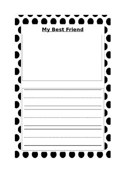 My Best Friend Worksheet