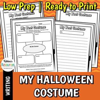 My Best Halloween Costume - Fall Writing Activity