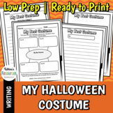 My Best Halloween Costume - Fall Writing Activity