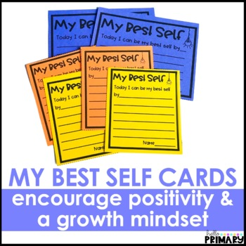 My Best Self Cards for Growth Mindset