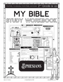 My Bible Study Workbook -The Book of Ephesians 2nd Grade & Up