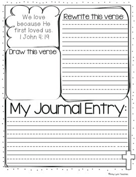 Bible Verse Journaling and A Books of the Bible Study Set {Primary}