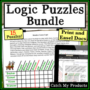 Logic Puzzles For 3rd Grade Worksheets Teaching Resources
