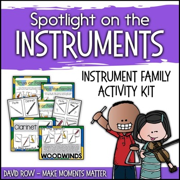 Spotlight on the Instruments - My Big Instrument Family Posters and 2 Games