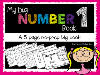 My Big NUMBER 1 Book~ NO-PREP