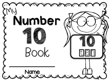 My Big NUMBER 10 Book~ FREEBIE!
