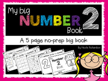 My Big NUMBER 2 Book~ NO-PREP