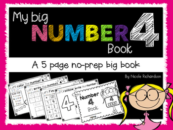 My Big NUMBER 4 Book~ NO-PREP