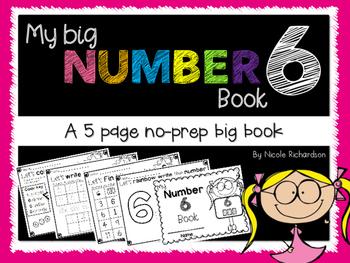 My Big NUMBER 6 Book~ NO-PREP