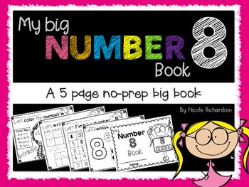My Big NUMBER 8 Book~ NO-PREP