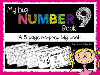 My Big NUMBER 9 Book~ NO-PREP