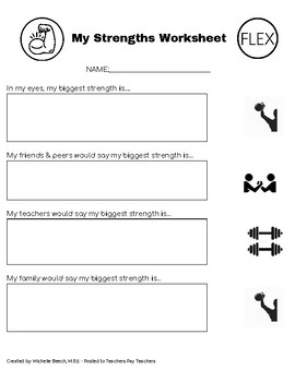 Self Esteem Worksheets | Teachers Pay Teachers