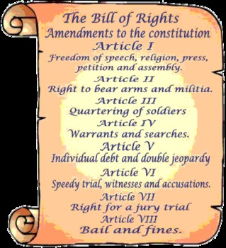 My Bill of Rights, Song and Lesson Packet, by History Tunes