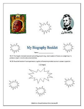 My Biography Booklet  High 1st, 2nd & 3rd