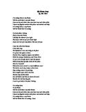 My Biome Song Lyrics