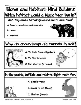 My Biome and Habitat Journal (For Elementary Students)