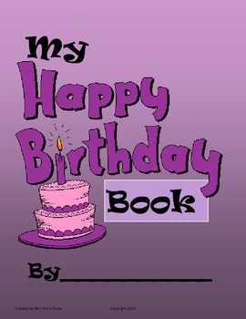 My Birthday Book - Writer's Workshop Set for first month o