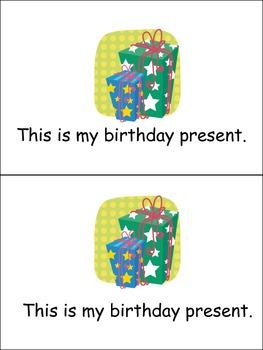 My Birthday Emergent Reader Preschool Kindergarten