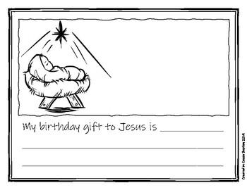 My Birthday Gift to Baby Jesus Writing Prompt