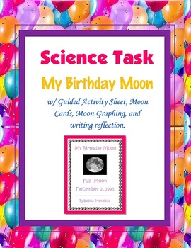 My Birthday Moon (Phases of the Moon) Science Task Activit