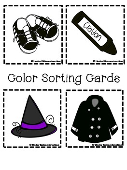 Color Book; Black; Includes 2 worksheets;Cut/Paste Activity;Color Sort Center