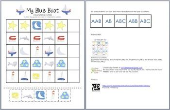 My Blue Boat Patterns