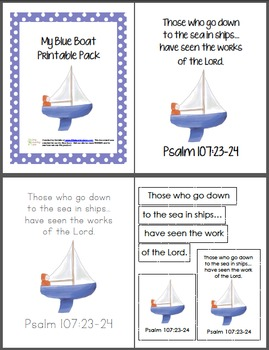 image about Boat Printable called My Blue Boat Printable Pack
