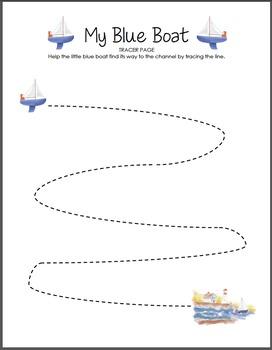 My Blue Boat Tracer Worksheet