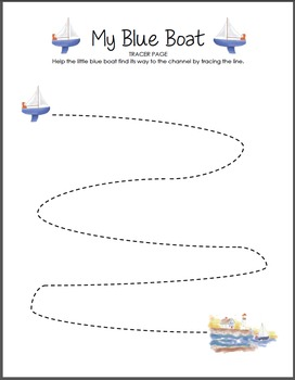 My Blue Boat Tracer Worksheet