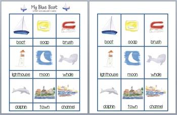 My Blue Boat Vocabulary Cards