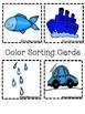Color Books;Blue; Includes Worksheets;Cut/Paste Activity, Color Sort Center