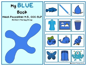 All About Blue Interactive Book and Activities