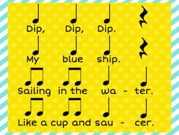 My Blue Ship: A Chant to Practice Ta-Titi-Rest