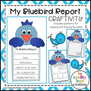 My Bluebird Animal Report Craft