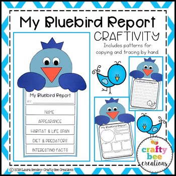 My Bluebird Animal Report Craft