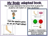 My Body Adapted/ Interactive Book for Special Education