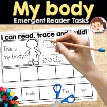 My Body Emergent Reader Activities Preschool Pre-K Kinder Autism